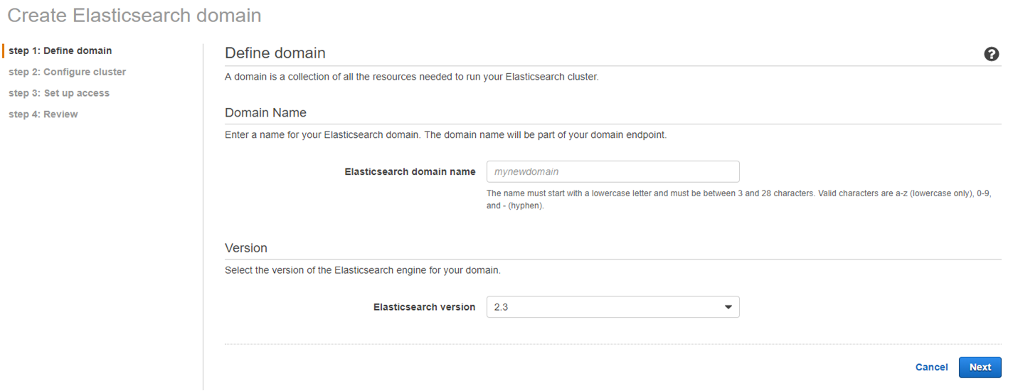 step 1: Define domain